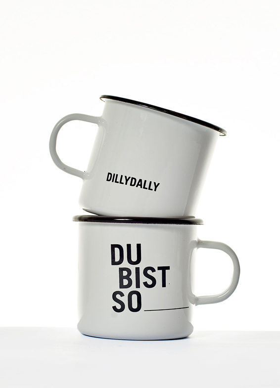 Dilly Dally Produkte - Becher